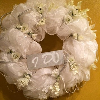 Deluxe Wedding Wreath, Wedding Gift, Bridal Shower Decor