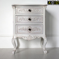 Classic Bedside Table With Three Drawers