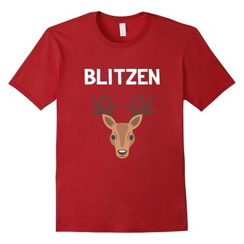 Funny Christmas Reindeer T-Shirt Blitzen Group Costume Names