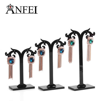 Black Acylic Earring Tree Shaped Display Stand Holder,Fashion Jewelry Display,sold per packet of 1 set=3PCS