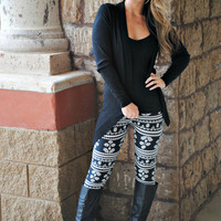 AZTEC INCA FLOWER LEGGINGS