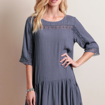 Tybee Island Crochet Accent Dress