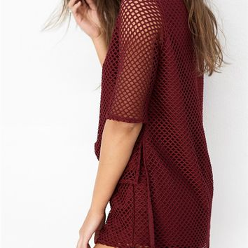 Buy Currant Mesh Top Online by SABO SKIRT