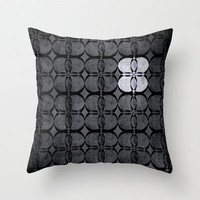 Pattern Eight Black and White Throw Pillow by gwenola de muralt | Society6
