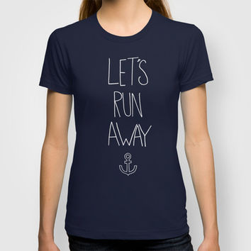 Let's Run Away | Sandy Beach, Hawaii T-shirt by Leah Flores Designs