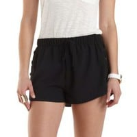 Drawstring Lace-Up Dolphin Shorts by Charlotte Russe