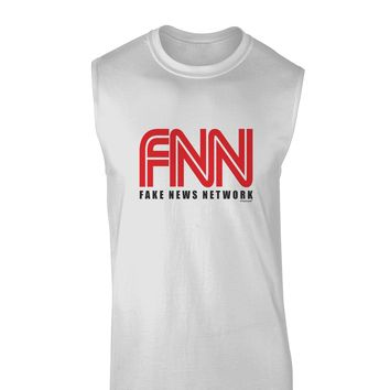 Fake News Network Funny Muscle Shirt  by TooLoud