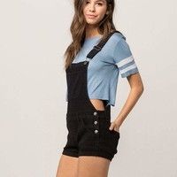 RSQ Denim Black Womens Shortalls