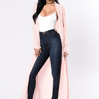 Succession Duster Jacket - Dusty Rose