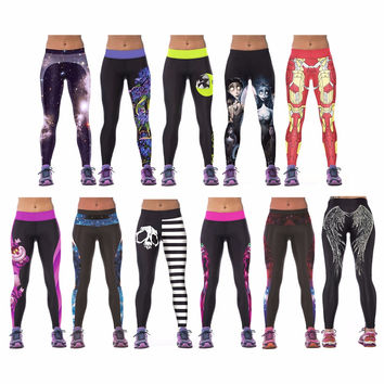 Large Variety of Womens Workout Gym Digital Printing Sports Pants