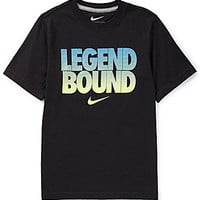 Nike 8-20 Bound 2B A Legend Tee - Team Orange/Dark Grey Heather