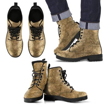 Tan Grunge Men's Leather Boots