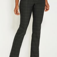 the polished trouser with slimming technology in charcoal plaid