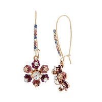 BOARDWALK SWEETS FLOWER EARRINGS: Betsey Johnson