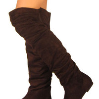 Womens Over Knee Thigh High Slouch Flat Boots Hot Stylish Shoes 5.5-10