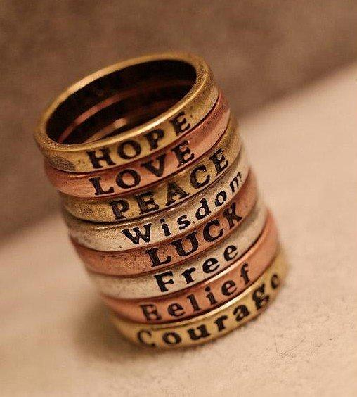 Fashion Engraved Letters Band Ring at Online Jewelry Store Gofavor