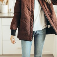 Red Bean Quilted Jacket