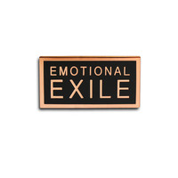 Emotional Exile Enamel Pin in Black and Copper