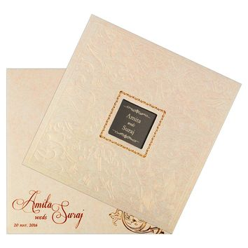 Good-Looking Wedding Invitation Card-KSK1756