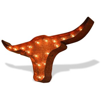 Texas Longhorns Vintage Marquee Lights Sign (Rustic)