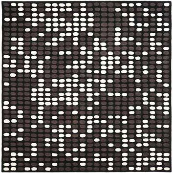 Safavieh SOH726A-6R Soho Black and White Round: 6 Ft. In. x 6 Ft. In. Area Rug - (In Round)