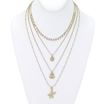 Sea of Life Layered Necklace