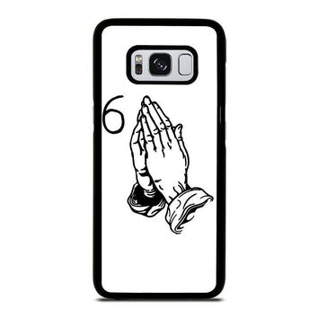 drake praying hand 6 samsung galaxy s3 s4 s5 s6 s7 edge s8 plus note 3 4 5 8  number 1