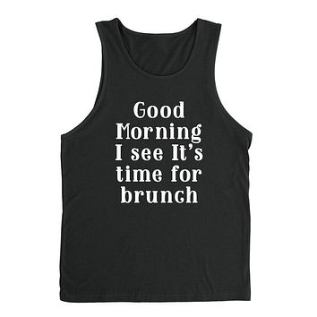 Brunch, brunchtime workout tee, graphic , funny  mimosas graphic Tank Top