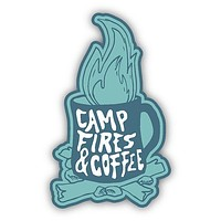 Camp Fires and Coffee Sticker