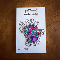 Geometric Heart Enamel Pin 2.0 - Black