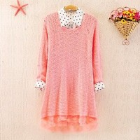 Oversize Sweater with Lace 1