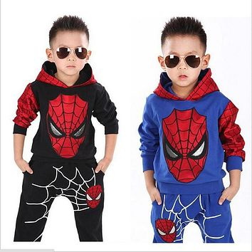 Spiderman Children Sport Suit (2-6 Years Kids Clothing Tracksuits)