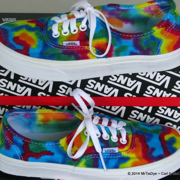 Tie-Dye VANS Authentic Sneakers  Men size 6.5   women size 8
