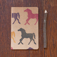 Horses notebook, pocket moleskine equestrian journal