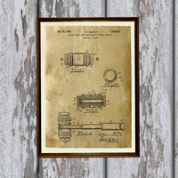 Patent print Hammer poster Antique home decor Vintage art AKP169