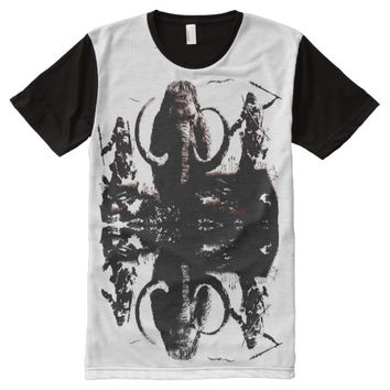 CAVE MAN HUNTING MAMMOTH All-Over-Print SHIRT