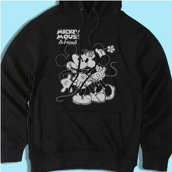 Disney Mickey Minnie Mouse Hug Love Men'S Hoodie