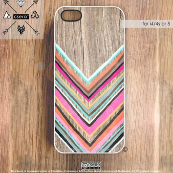 iPhone 5 Case Wood Print iPhone 4s Case Chevron by casesbycsera