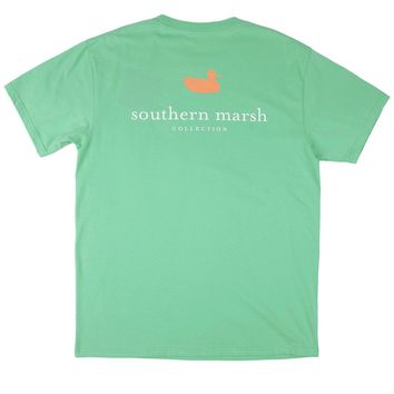 Authentic Tee in Bimini Green by Southern Marsh