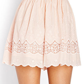 On The Prairie Embroidered Skirt | FOREVER21 - 2000088327