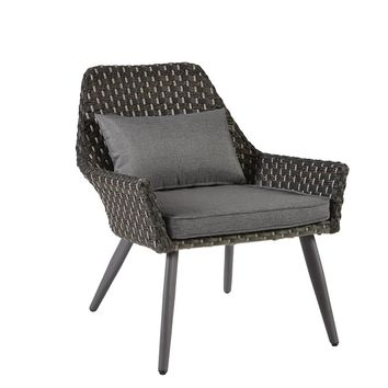 Hector Basketweave Accent Patio Chair With Cushions