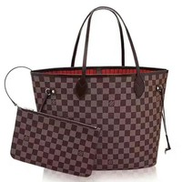 LV Women Shopping Leather Tote Handbag Shoulder Bag Two-piece H-LLBPFSH