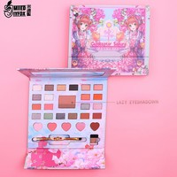 New Cardcaptor Sakura Charming Eyeshadow Pallete Lazy Eyeshadow Palette Make up Palette Matte Shimmer Pigmented Eye Shadow Power