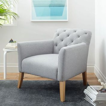 Elton Chair - Feather Gray (Heathered Crosshatch)