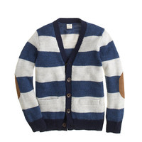 crewcuts Boys Rustic Merino Elbow-Patch Sweater In Rugby Stripe