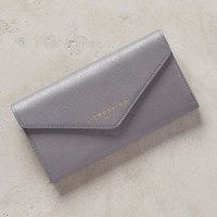 Fanni Distressed Leather Wallet by Liebeskind Silver One Size Clutches