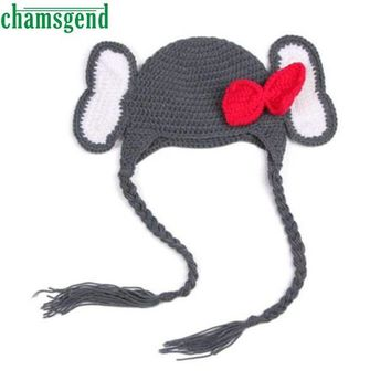 DCCKU7Q Baby  Elephant Knit Crochet Winter Hat