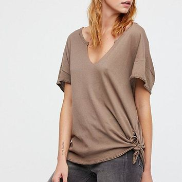 Free People Lilly Tee Taupe