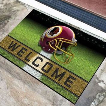 Washington Redskins Door Mat 18x30 Welcome Crumb Rubber