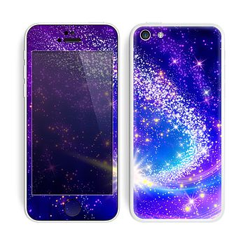 The Glowing Pink & Blue Comet Skin for the Apple iPhone 5c